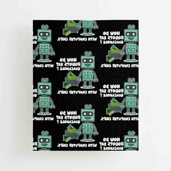 How do robots eat guacamole